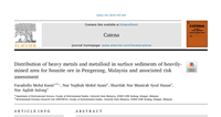 Distribution of heavy metals and metalloid in surface sediments of heavily-mined area for bauxite ore in Pengerang, Malaysia and associated risk assessment