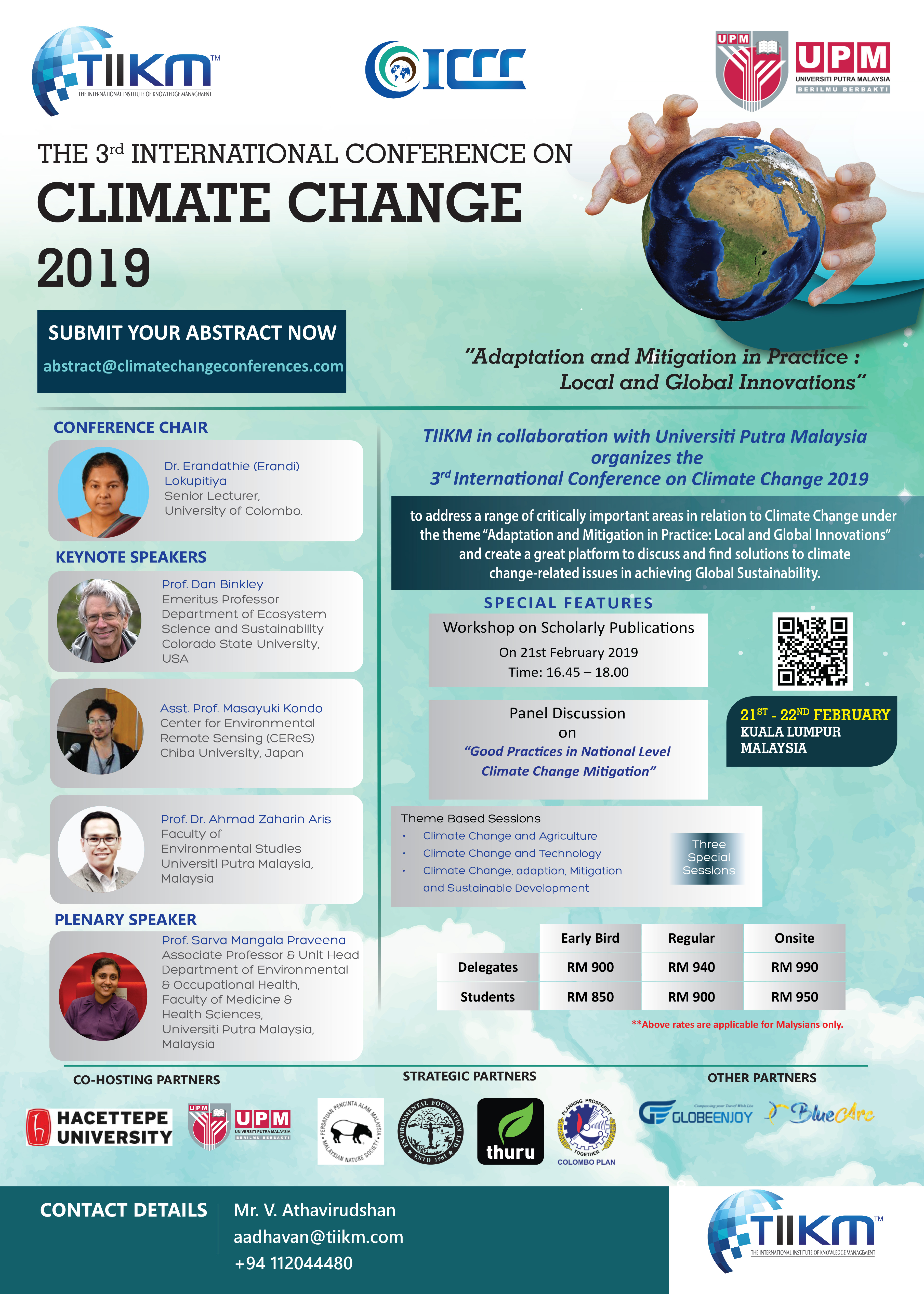 CALL FOR PAPERS 3rd International Conference on Climate Change 2019 (ICCC 2019)